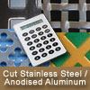 Cut Pricing for Anodised Aluminium and Polished Stainless Steel Perforated sheet