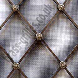 Regency Antique Brass Decorative Grille Example